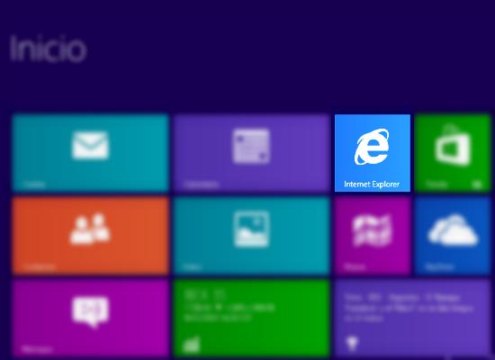 Acceso a Internet Explorer 10