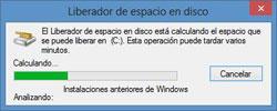 Eliminando las instalaciones anteriores de Windows