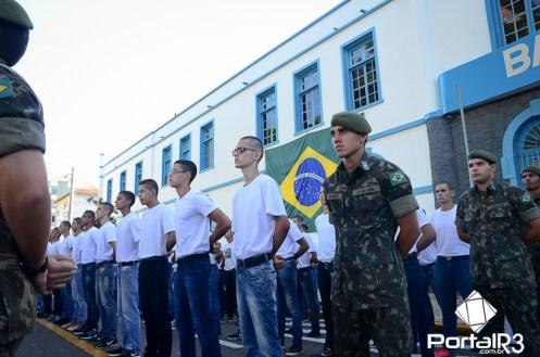 Incorporação do contingente 2017 no Batalhão Borba Gato. (Foto: Luis Claudio Antunes/PortalR3)
