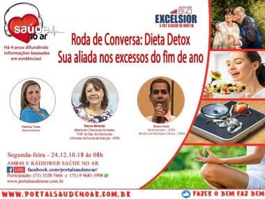 Dieta detox e os excessos na alimentação nas festas de final de ano