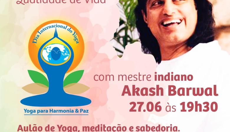 Aula de meditação e yoga com mestre indiano