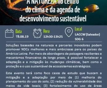 Conferência da Semana do clima da América Latina  e Caribe começa nesta segunda- feira em Salvador