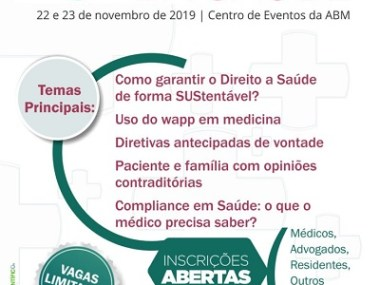 ABM realiza ICongressoBaiano deJudicializaçãoda Saúde