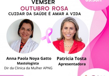 Eu amo viver = Campanha Outubro Rosa para prevenção do Câncer de mama