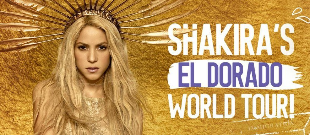 Shakira - El Dorado World Tour 2018