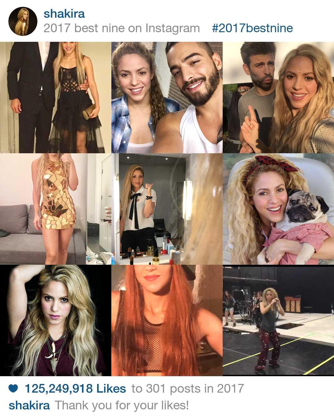 As melhores fotos da Shakira no Instagram ano de 2017