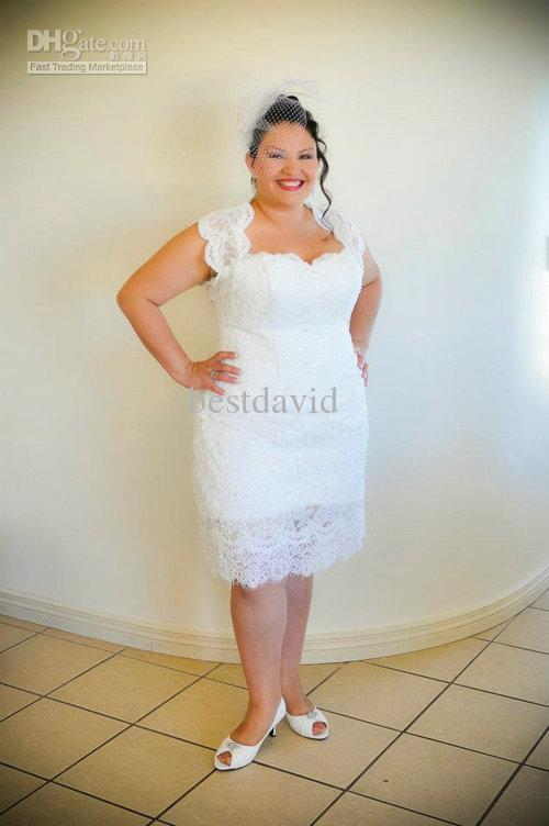 cheap-plus-size-sheath-short-beach-wedding