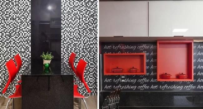 detalhes com cores fortes na cozinha
