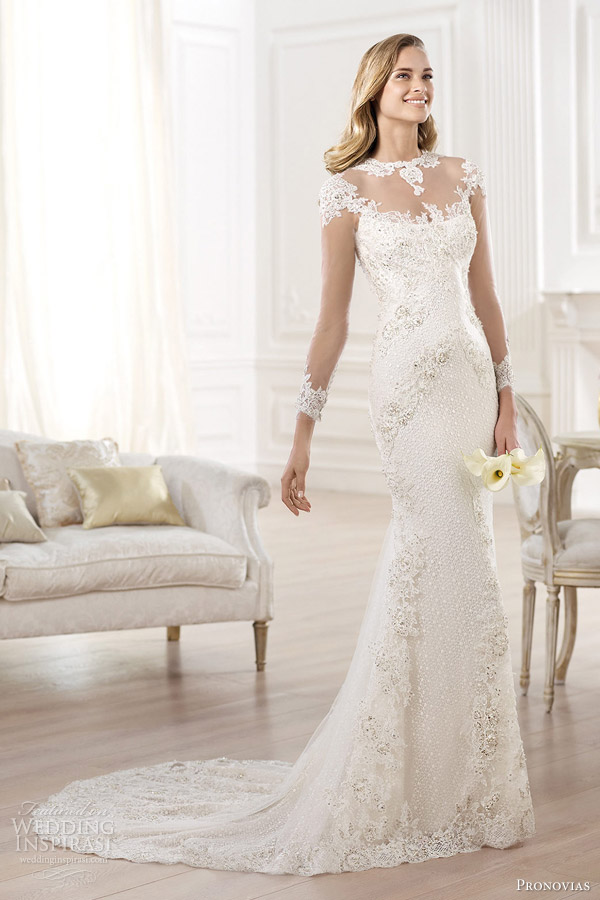 23-pronovias-atelier-2014-yanida-wedding-dress-illusion-long-sleeves