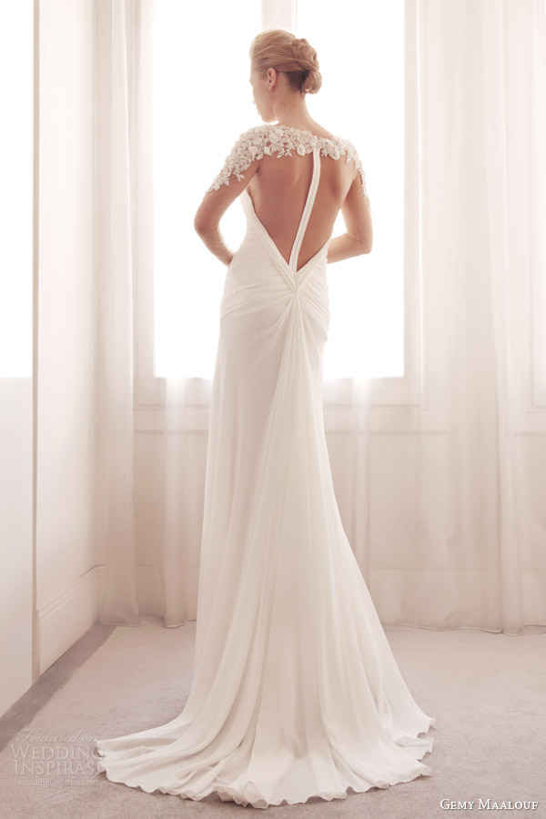 gemy-maalouf-bridal-2014-wedding-dress-illusion-long-sleeve-3727-illusion-back-train