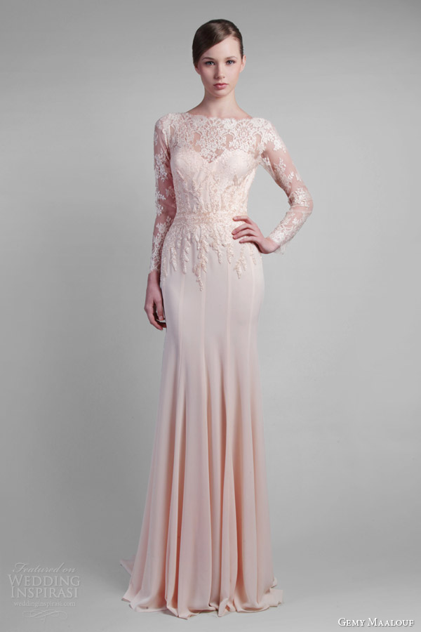 gemy-maalouf-couture-spring-2014-long-sleeve-lace-gown