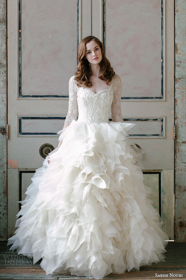 sareh-nouri-spring-2015-sawyer-sleeve-ball-gown-kehole-back-front-view
