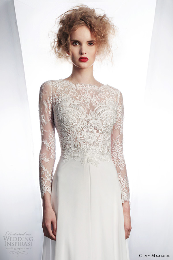 gemy-maalouf-wedding-dress-2015-bridal-separates-long-sleeve-lace-top-3954-long-skirt-3042