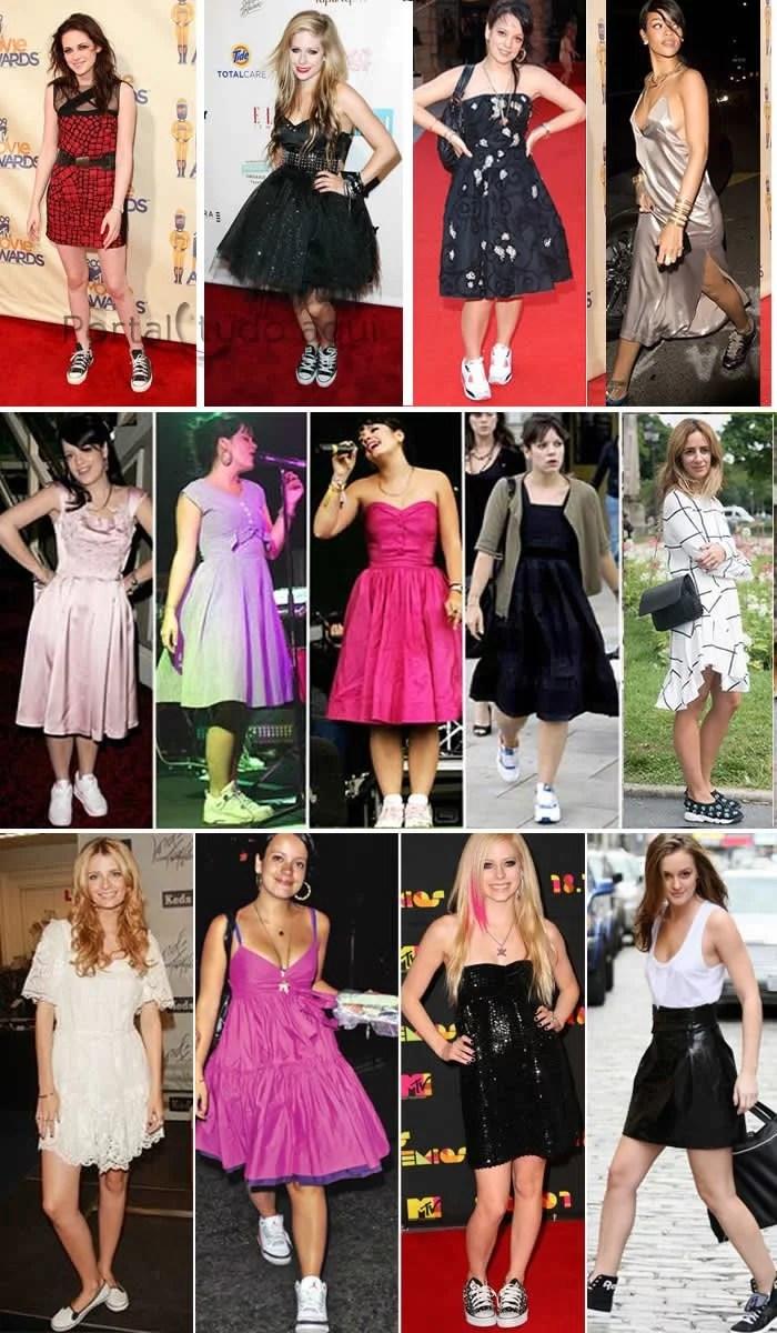 moda-vestido-com-tenis-moda-famosas