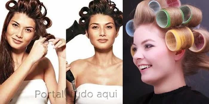 dicas de cuidados para cabelo fino-ou-ralo-fazer-dedinho-enrolar-com-bobes