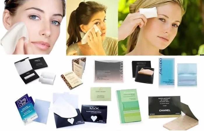 lencos-anti-oleosidade e brilho-para-maquiagem-de-carnaval-durar-mais