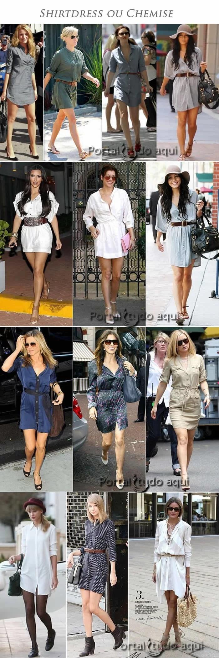 shirtdress-ou-chemise-tendencia-de-moda-inspiracao-famosas