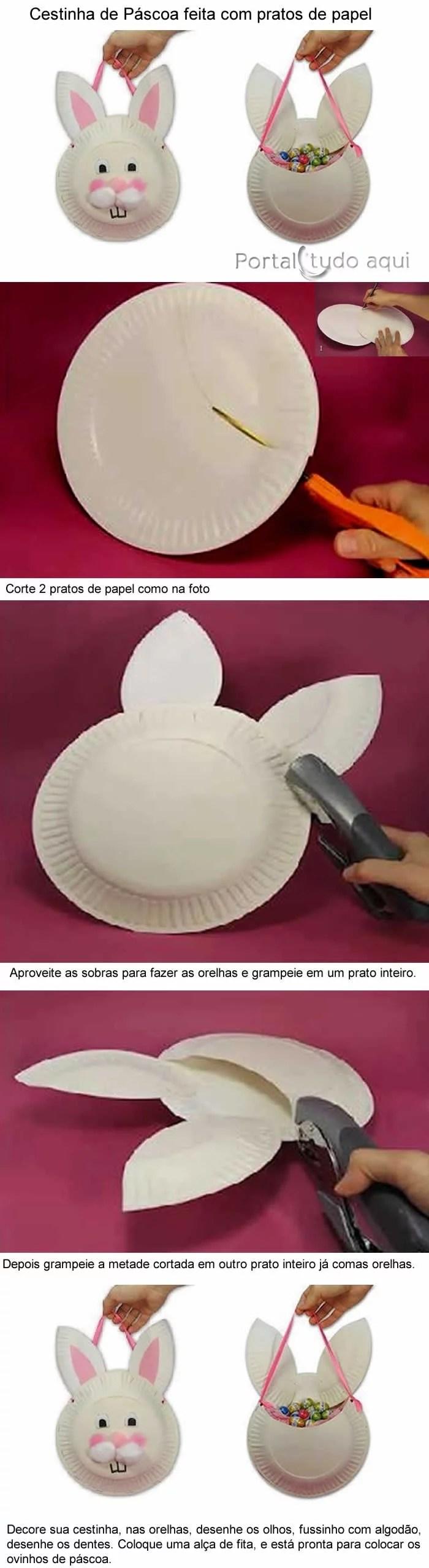 lembrancinha-cestinha-de-prato-de-papel-para-pascoa
