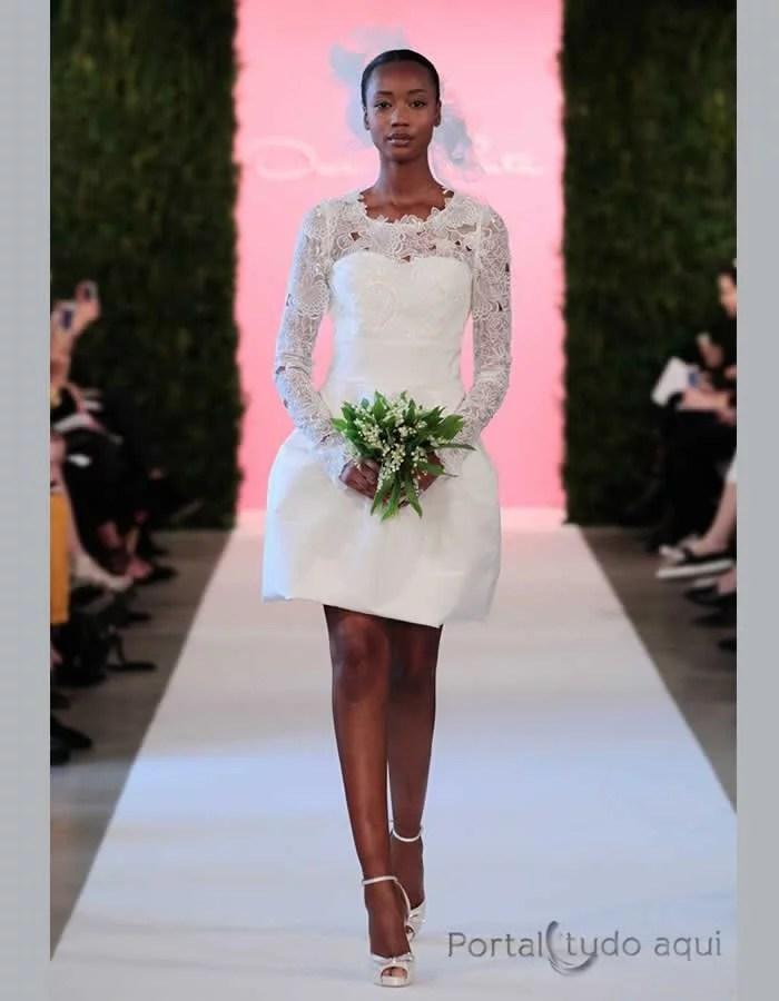 vestido-de-noiva-inverno-2015-2016-curto-com-manga-comprida-saia-armada