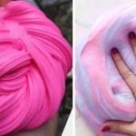 slime fluffy colorido