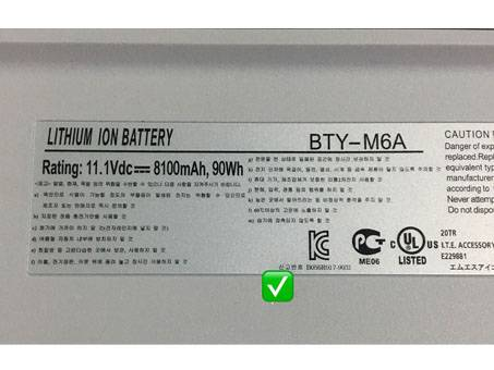 Batería para MSI BTY-M6A