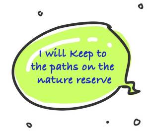 Dog Rangers pledge to keep to the paths on the nature reserve