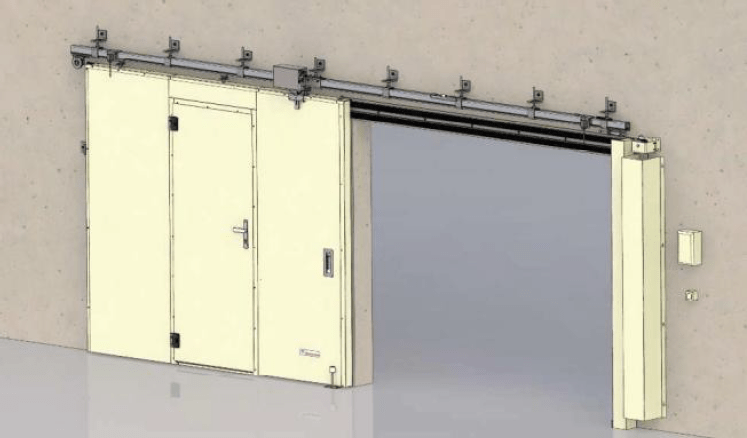 porte coulissante metallique