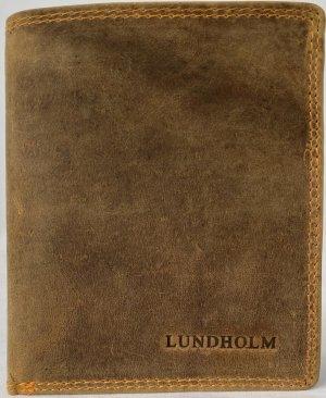 Lundholm Leren heren portefeuille leer cognac - luxe autopapieren map leer - cadeau voor man