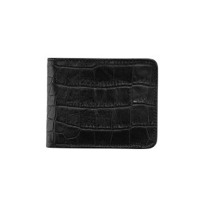 dR Amsterdam Croco Billfold Black 24559