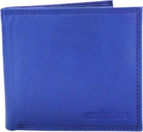 Portemonnee Heren Massi Milliano leder 11x2x10cm (PHXW-309-9) - navy-blauw