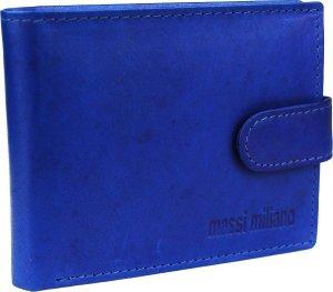 Portemonnee Heren Massi Milliano leder (MRS-35-8) - blauw -
