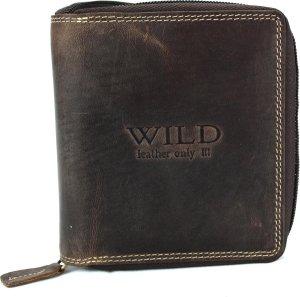 Portemonnee heren Wild leder d.bruin 10,5x2x12,5cm - (RG-005-15) -