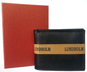 Lundholm leren heren portemonnee heren leer nappa leer - compact model - in geschenkdoos - vaderdag pakket - vaderdag kado - vaderdag kados - vader cadeautje - vaderdag geschenk