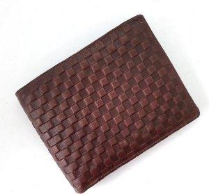 Fana Bags Heren Portemonnee Echt Leer - RFID + SKIM - Portemonnee Rundleer - Heren Billfold Bruin