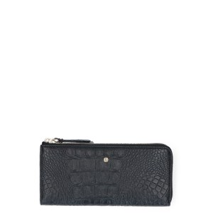 FMME Wallet Large Croco Black