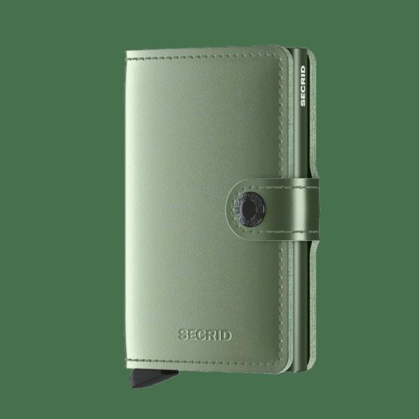 Secrid Mini Wallet Portemonnee Metallic Green