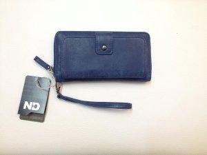 Bags And Wallets - Dames Portemonnee - Met Telefoonvakje - Clutch - Afneembare Polsband - Royaal Blauw - 8 pasjes