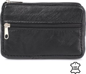 Bagwise Sleuteltasje - Sleuteletui - mini klein geld Portemonnee - Pasjeshouder - Echt Leder - Zwart