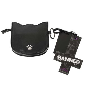 Banned Dames portemonnee Eye of the Beholder cat Zwart