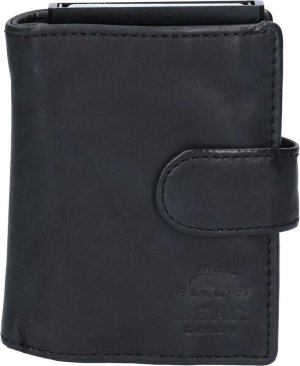 Bear Design Dames portemonnee Cow Lavato Leer - zwart