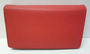 Dames Overslagportemonnee met dubbele drukker - Bright Red