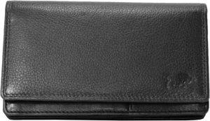 Dames Portemonnee Zwart Leer RFID ( Anti-Skim) - Ideale Dames Portemonnee Zwart
