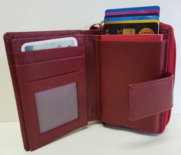 Dames portemonnee met card protector rfid Rood