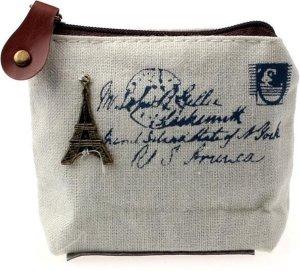 Eiffeltoren Portemonnee - Coin zakje - Munt/Zip zakje