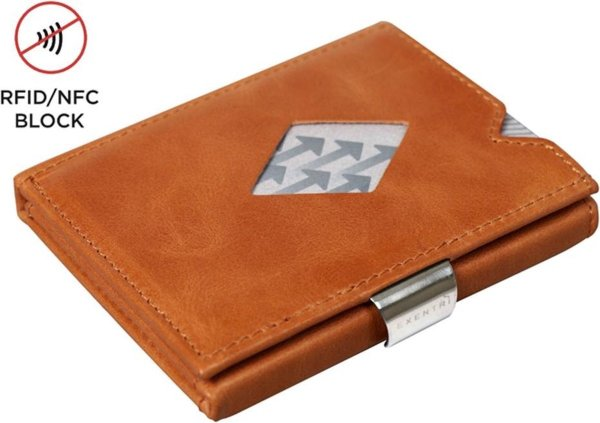 Exentri Leather Wallet Cognac