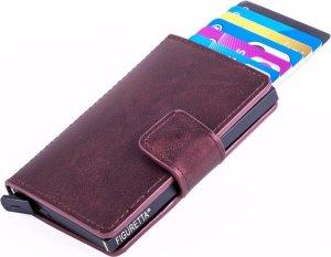 Figuretta RFID Creditcardhouder PU-leer - Bordeaux Rood