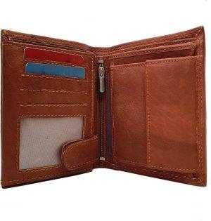 Herenportemonnee Echt Leer - Heren Portemonnee - 16 Creditcards - Kwaliteit Portemonnee - Leren Portemonnee - Portefeuille heren - Cognac