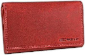 Hillburry VL77709 Leren Dames Portemonnee - Overslag Model - Licht rood