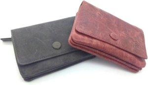 Kleingeld portemonnee / sleutel opberger leder rood 40329