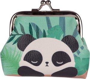 Knipportemonnee panda groen-